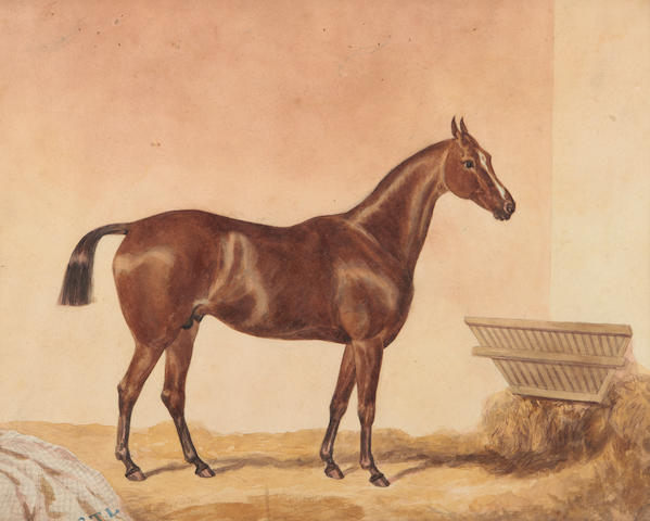 British School, circa 1920  A pair of watercolours depicting horses in the stable (2)
