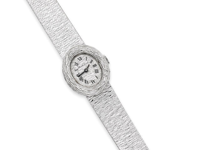 A lady's 18ct white gold wristwatch, by Bueche Girod, London 1969