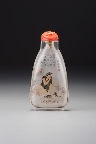 An inside-painted rock-crystal snuff bottle Ma Shaoxuan, probably 1898 or 1899