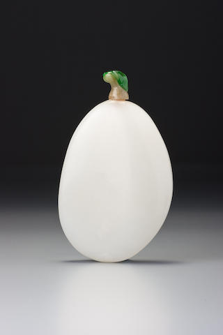 White nephrite pebble