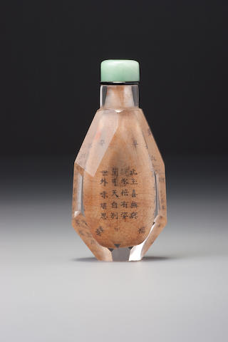 An inside-painted rock-crystal snuff bottle Yiru jushi, attributed to Beijing, 1802–1811 (the bottle 1740-1811)