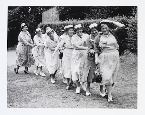 Grace Robertson (British, born 1930) Conga Line, London Women's Pub Outing (Clapham), 1956
