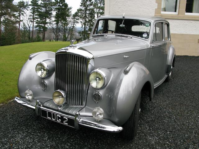 Formerly the Property of Alan Whicker, CBE,1955 Bentley R-Type 4½-Litre Saloon  Chassis no. B96ZY Engine no. B173Z