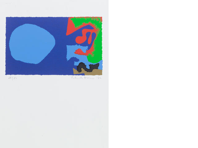 Patrick Heron (British, 1920-1999) Abstract Composition Screenprint, 1982, printed in colours, on wove, with wide margins, signed, dated and numbered 28/50 in pencil, 180 x 295mm (7 1/5 x 11 2/3in)(I)  unframed