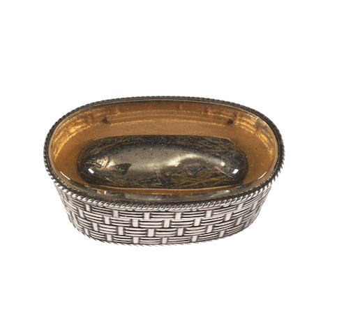 A Victorian silver novelty vesta case in the form of a fishing creel By Thomas Johnson, London, 1883,