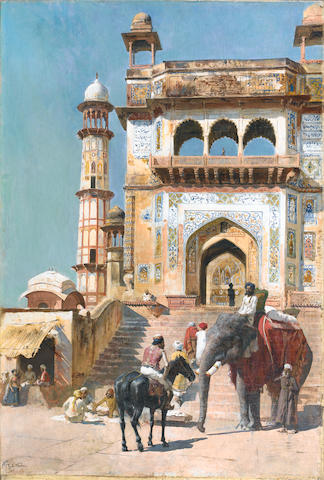 Edwin Lord Weeks (American, 1849-1903) Before a Mosque