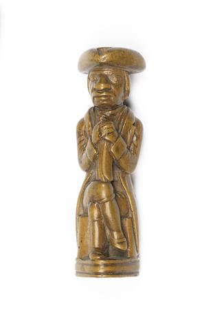 An early 19th century carved boxwood figure probably depicting Jean-Jacques Dessalines
