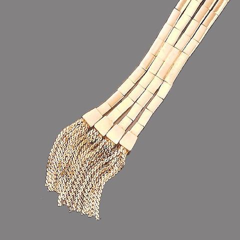 A fancy-link garter bracelet