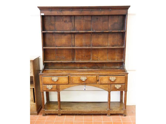 An oak dresser