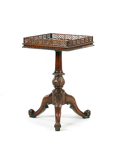 A mahogany occasional table, in 18th Century style, by Gostin
