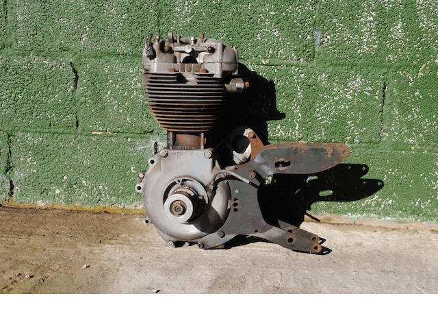 A Norton OHV single cylinder engine,