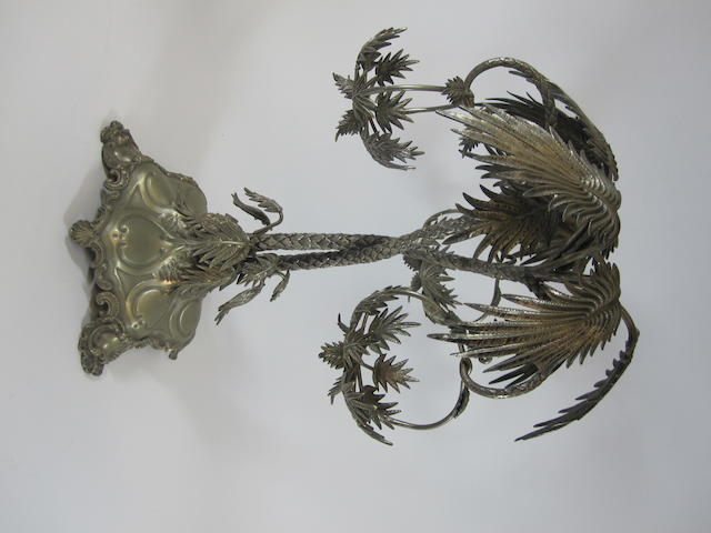 A Victorian electroplated table centre piece