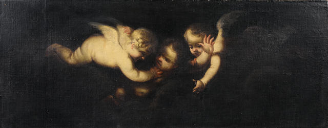 Circle of Murillo, Putti, oil on canvas, unframed