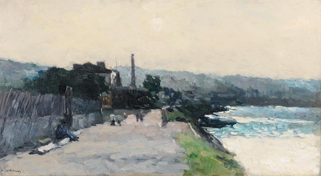 Charles Auguste Lebourg (French, 1829-1906), A.C.Lebourg, Rouen, oil Rouen, le Prés aux loups au bas de la Côte Ste Catherine