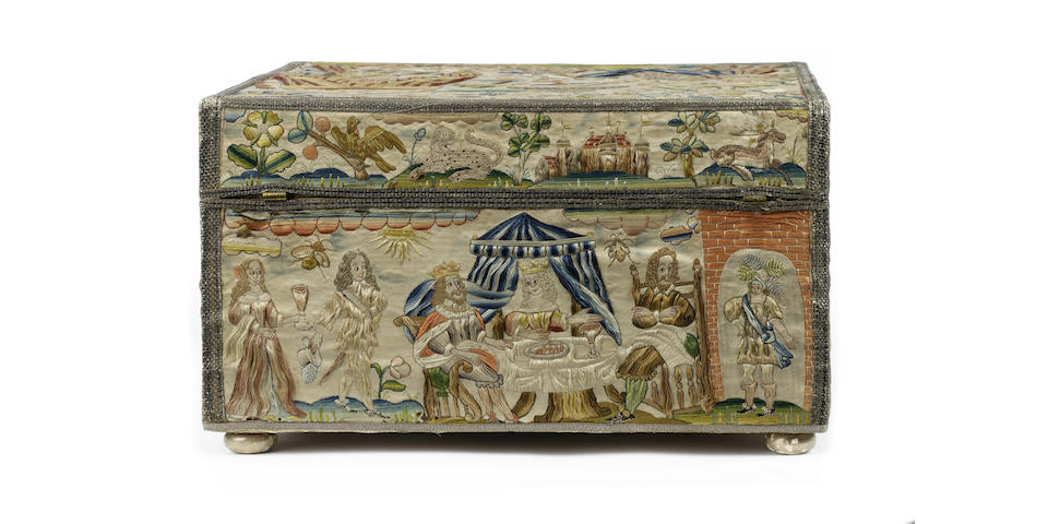 A mid 17th century workboxcirca 1650