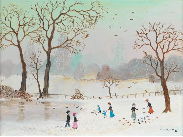 Helen Bradley (British, 1900-1979) A Blackpool scene 23 x 30.5 cm. (9 x 12 in.)