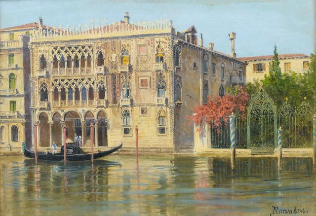 Antonietta Brandeis (Czechoslovakian, 1849-1910) Palazzo Ca d'oro, Venice; a Venetian backwater each 16.5 x 23.5cm (6 1/2 x 9 1/4in).