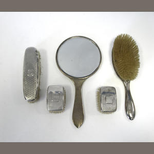 A quantity of silver items,  (Qty)