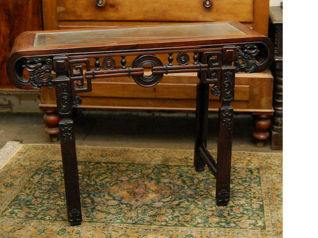A Chinese padouk altar table, late 19th Century
