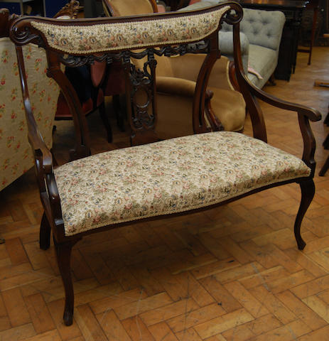 A mahogany chair-back settee, early 20th Century