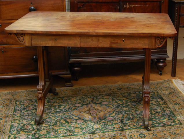 A William IV mahogany library table