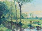 Charles Vincent Lamb R.H.A., R.U.A. (Irish, 1893-1964) River landscape; Landscape both 30 x 40 cm. (11 3/4 x 15 3/4 in.)