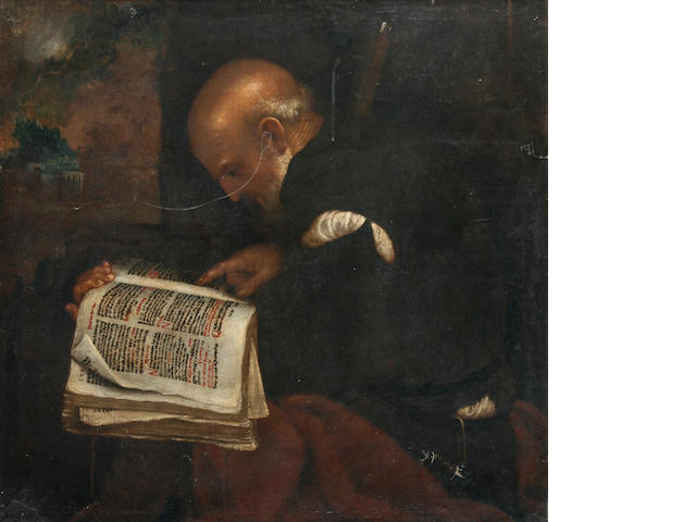 Flemish School, 17th century 'Philosopher Reading',