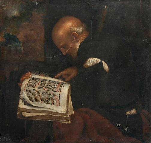 Flemish School, 17th century 'Philosopher Reading',