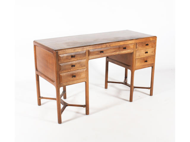 A Gordon Russell dressing table or desk, designed by Gordon Russell, no. 1, circa 1927
