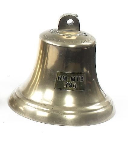 A Ship's Bell, HM MTB 790 9in (23cm) diam.