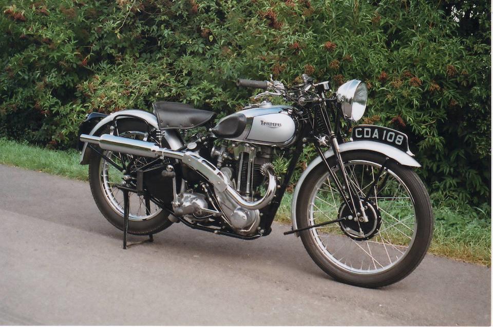 1938 Triumph 350cc Tiger 80 Frame no. TL30266 Engine no. 9 T80 14272