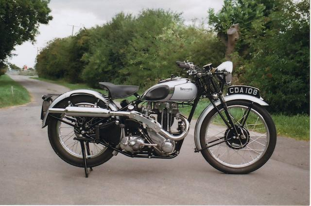 1938 Triumph 350cc Tiger 80 Frame no. TL30266 Engine no. 9 T80 14272