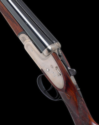 An Arrieta 12-bore (2¾in) 'Crown Sabel' sidelock ejector gun by Gunmark, no. 32354 In a leather and canvas slip