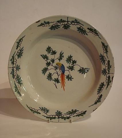 An English delft dish  Lambeth, Circa 1750