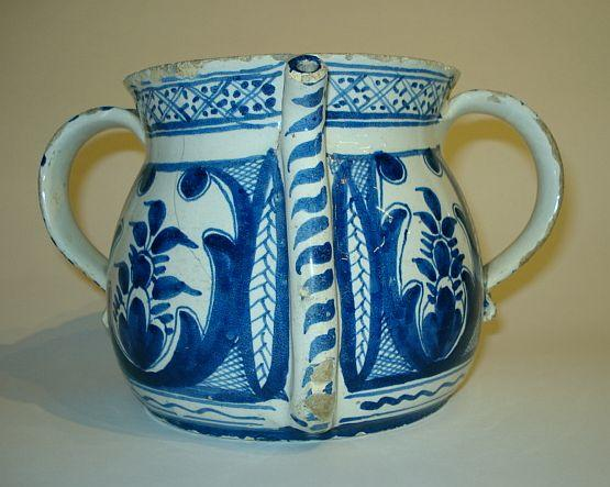 An English Delft posset pot  Circa 1730