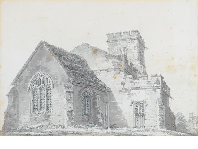 Joseph Mallord William Turner, RA (British, 1775-1851) Chingford Church, Essex