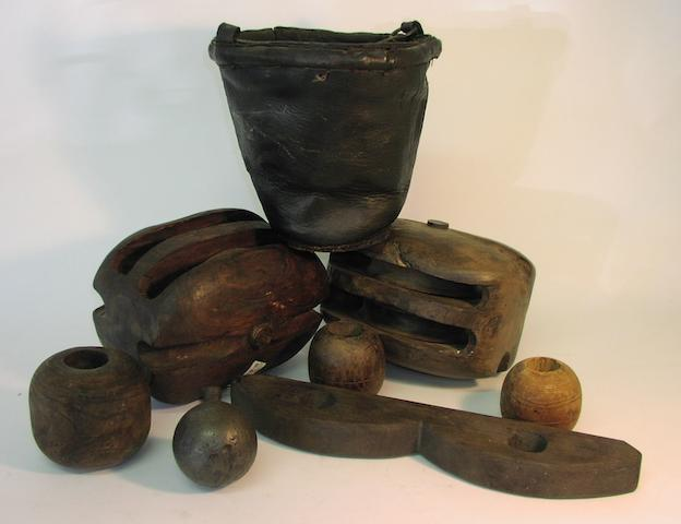 A collection of recovered and conserved artefacts from HMS Invincible 1744, 12