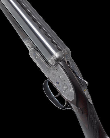 A fine 12-bore self-opening sidelock ejector gun by J. Purdey & Sons, no. 23423 In its brass-mounted oak and leather case with canvas cover