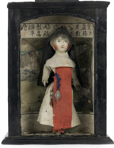 English wooden doll, circa 1680