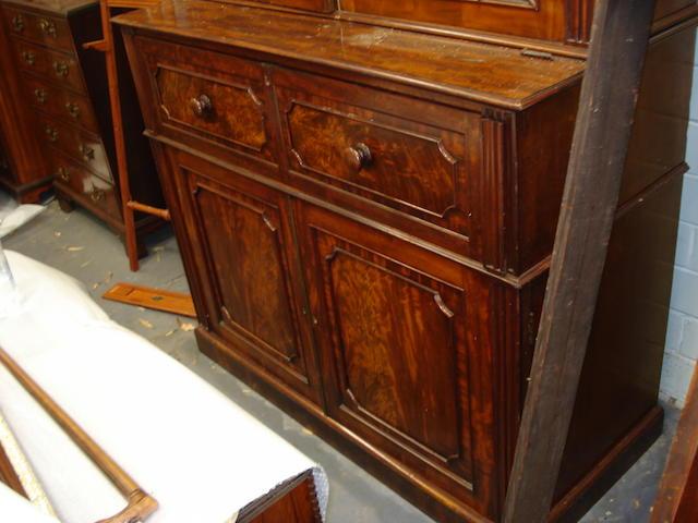 A mid 19th century mahogany secretaire cabinet
