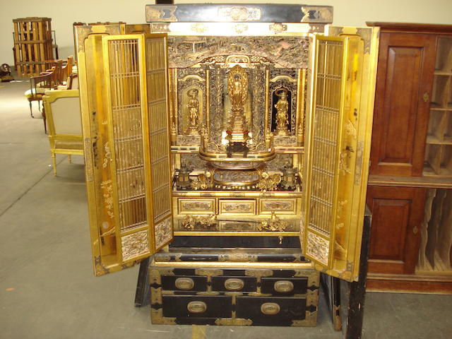 A large Japanese Buddhist altar Late 19th century