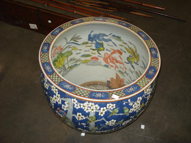 A Chinese famile bleu jardiniere