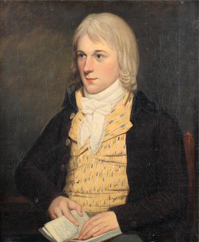 Circle of John Singleton Copley (Boston 1737-1815 London) Portrait of a young man,