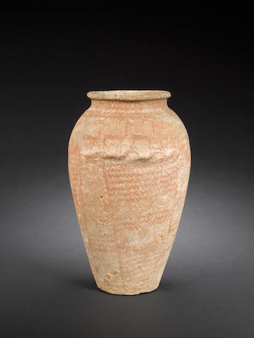 An Egyptian Predynastic painted pottery jar