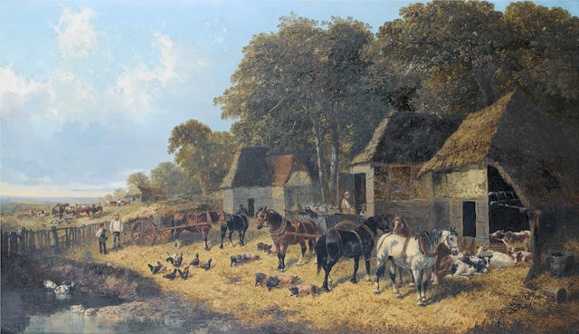 John Frederick Herring, Jnr. (British, 1815-1907) The farmyard