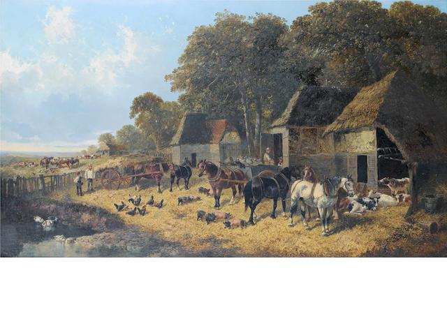 John Frederick Herring, Jnr. (British, 1815-1907) The farmyard