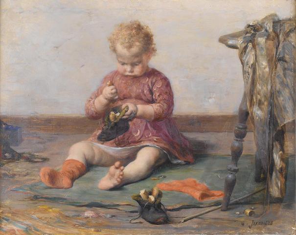Georgios Jakobides (Greek, 1852-1932) Playtime