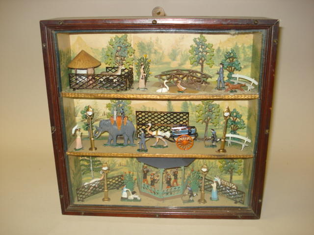 German made, possibly Wollner, three tier zoo park display 52