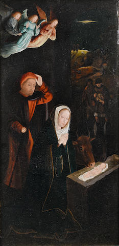 Antwerp School, 16th Century The Nativity (recto); and The Angel Annunciate (verso)
