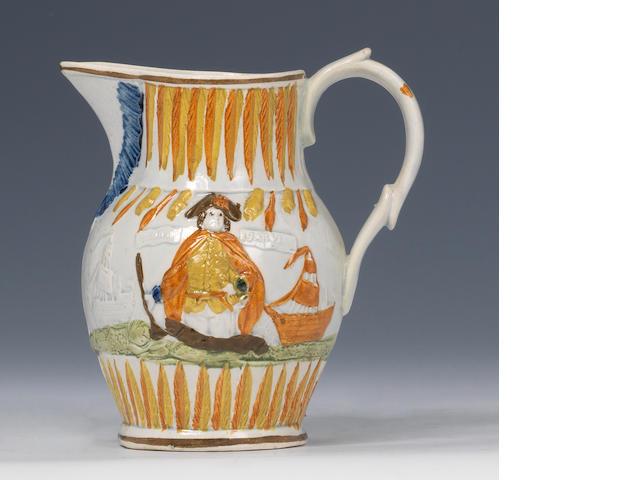Prattware jug 1797